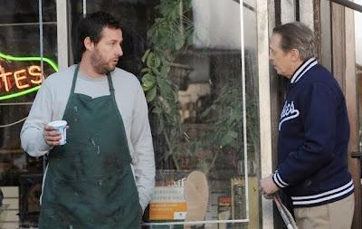 Adam Sandler y Steve Buscemi The Cobbler set (13 de noviembre, 2013; NY)