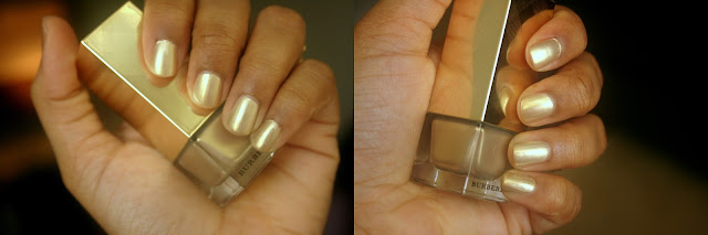 Burberry Beauty Nail Polish in Light Gold no.107 NOTD