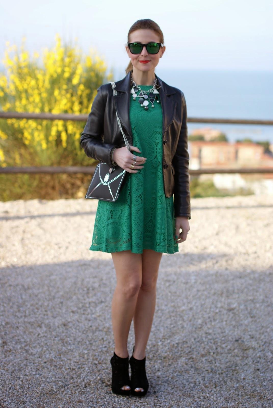 Vitti Ferria Contin jewelry, Millelire watch, Sheinside green dress, Fashion and Cookies, fashion blogger