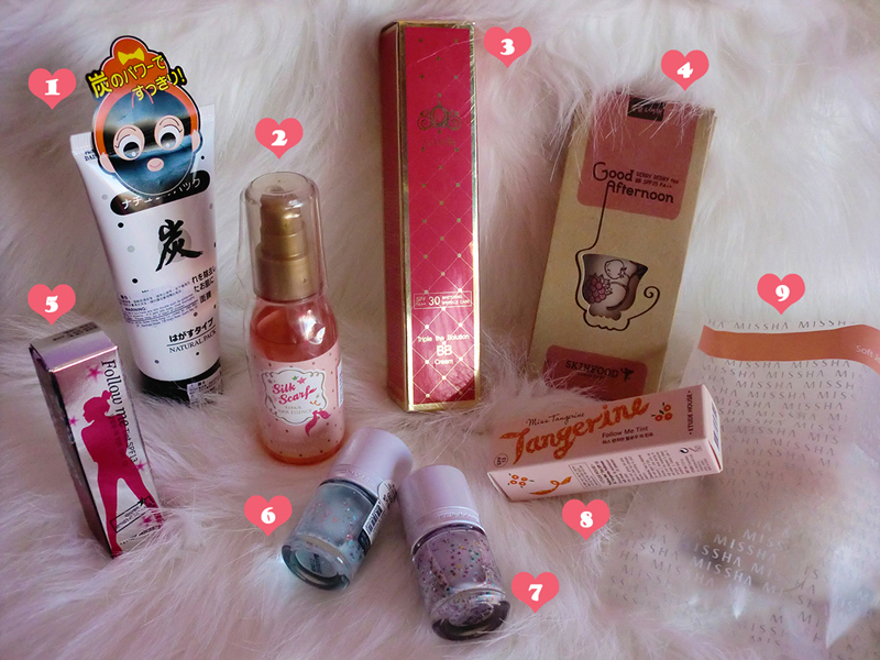 The Daiso, Lioele, Skinfood, Etude House, Tony Moly, Missha
