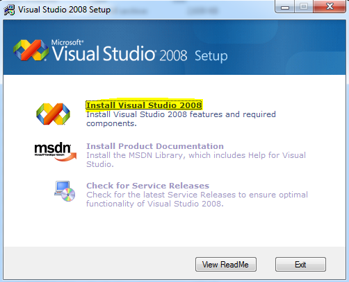 Cara Install Visual Basic .Net 2008