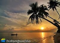 sunset pantai tanjung gelam karimunjawa