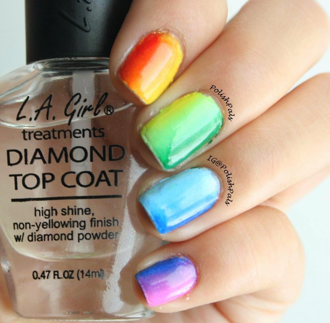 Polish Pals: Vertical Rainbow Gradient