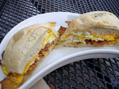 Egg sandwich at Popovers, Portsmouth, NH