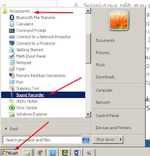 Membuka Fitur Sound Recorder pada Windows