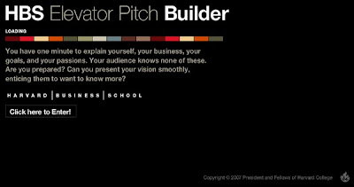 HBS Elevator Pitch Builder