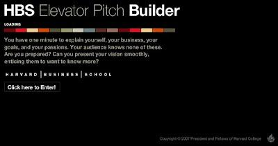 HBS Elevator Pitch Builder