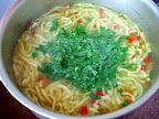 Supa de pui cu taitei preparare reteta
