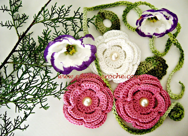 dvd flores em croche 2 da coleção aprendi e ensinei com Edinir-Croche video aula frete gratis