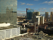The view of Vegas from the room I stayed at in the hotel. :)