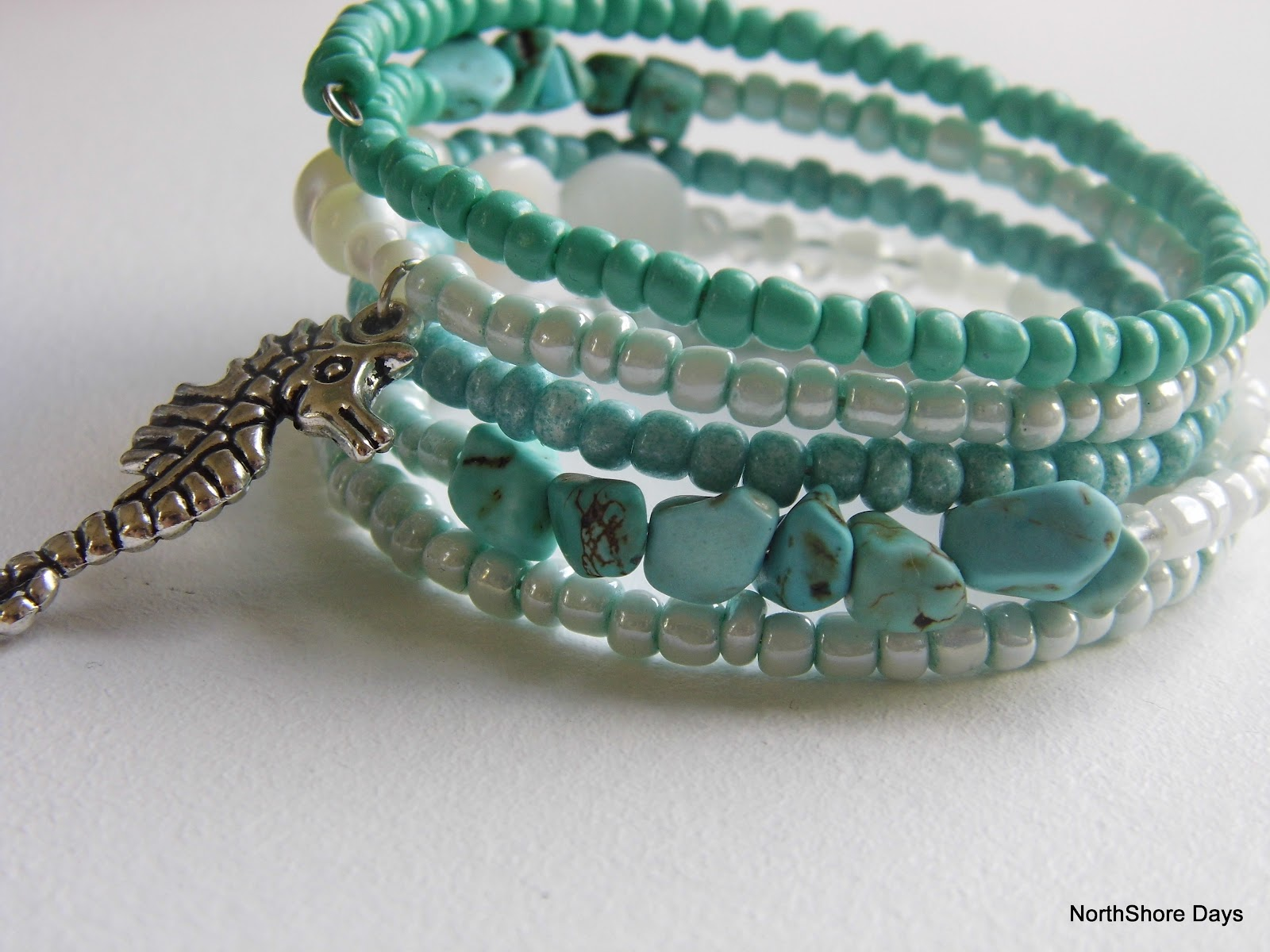 jewelry bracelet girl mermaid turquoise pin coil blue beach