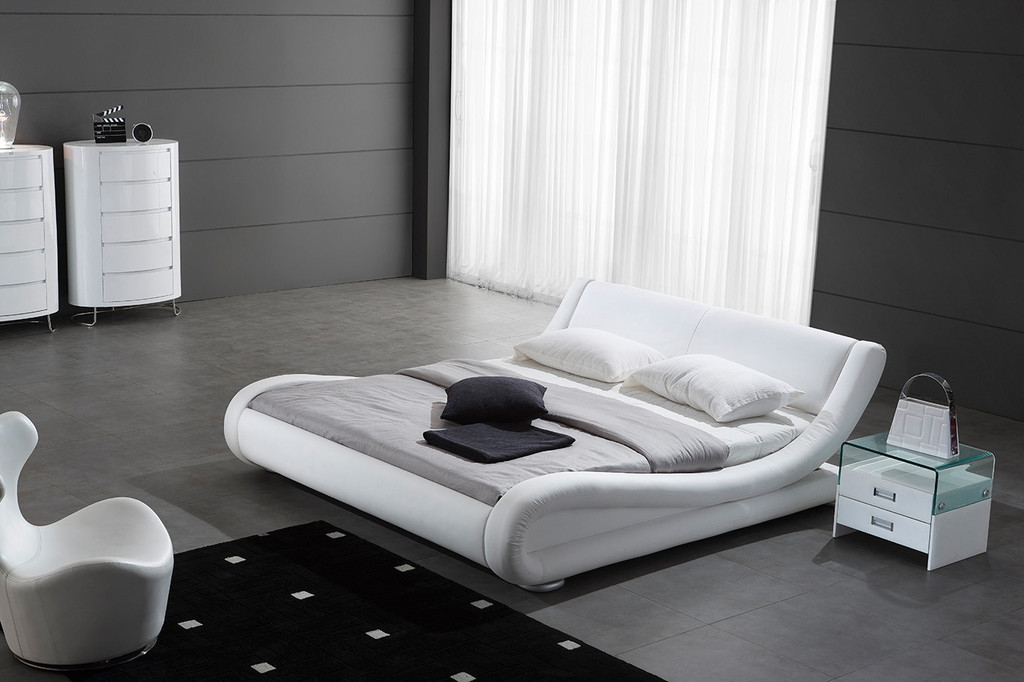 decco interieur lit bateau blanc 140 x 200. Black Bedroom Furniture Sets. Home Design Ideas