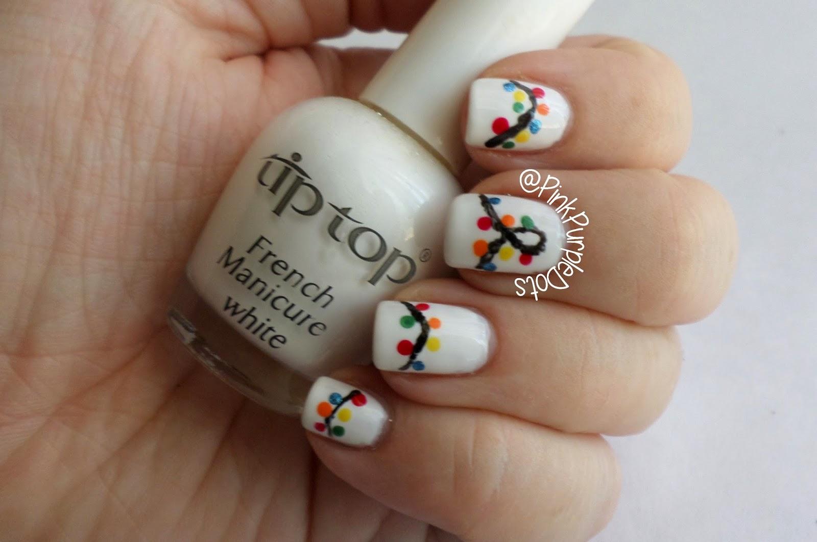 christmas light nails amp tutorial