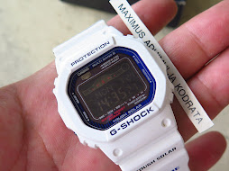CASIO G-SHOCK DW5600E - TOUGH SOLAR - WHITE BAND