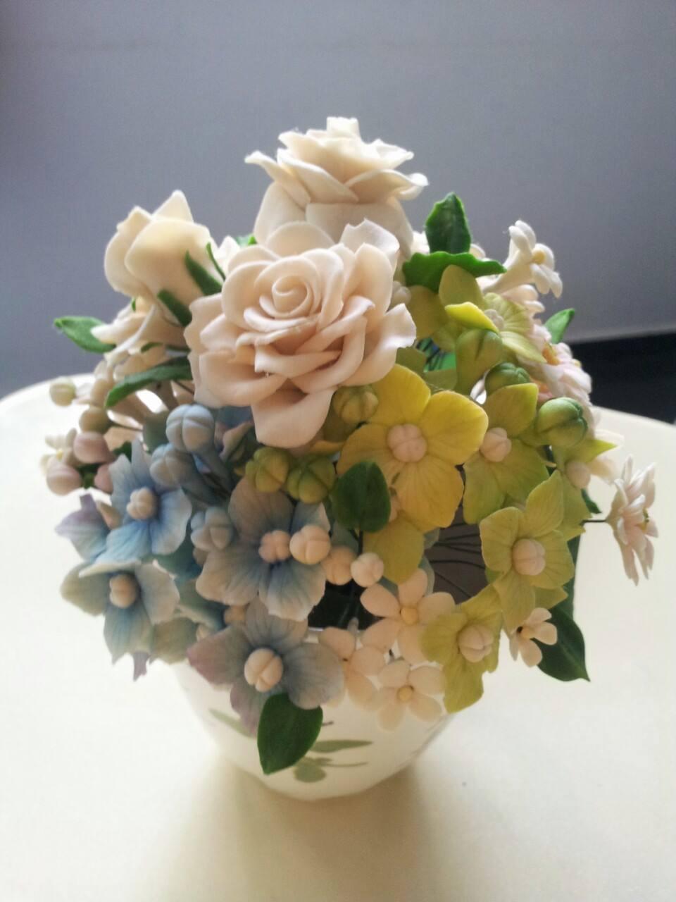 Gum Paste Bouquet Sugarfrolic