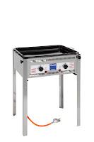 Sistem Grill '1000' realizat otel cromat,pe gaz,cu doua arzatoare care pot fi reglate independent,include termocuplu, aprindere electrica,inaltime fara sup 300 mm ,consum de 653 g/h 650x515x(H)825 mm., puterea 9,2 Kw, presiunea 50 mbar