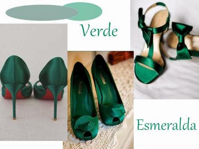 Acessório -  Sapato verde esmeralda