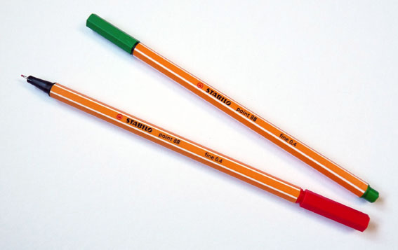 Pen Tip Sizes a Felt-tip Pen Similar to