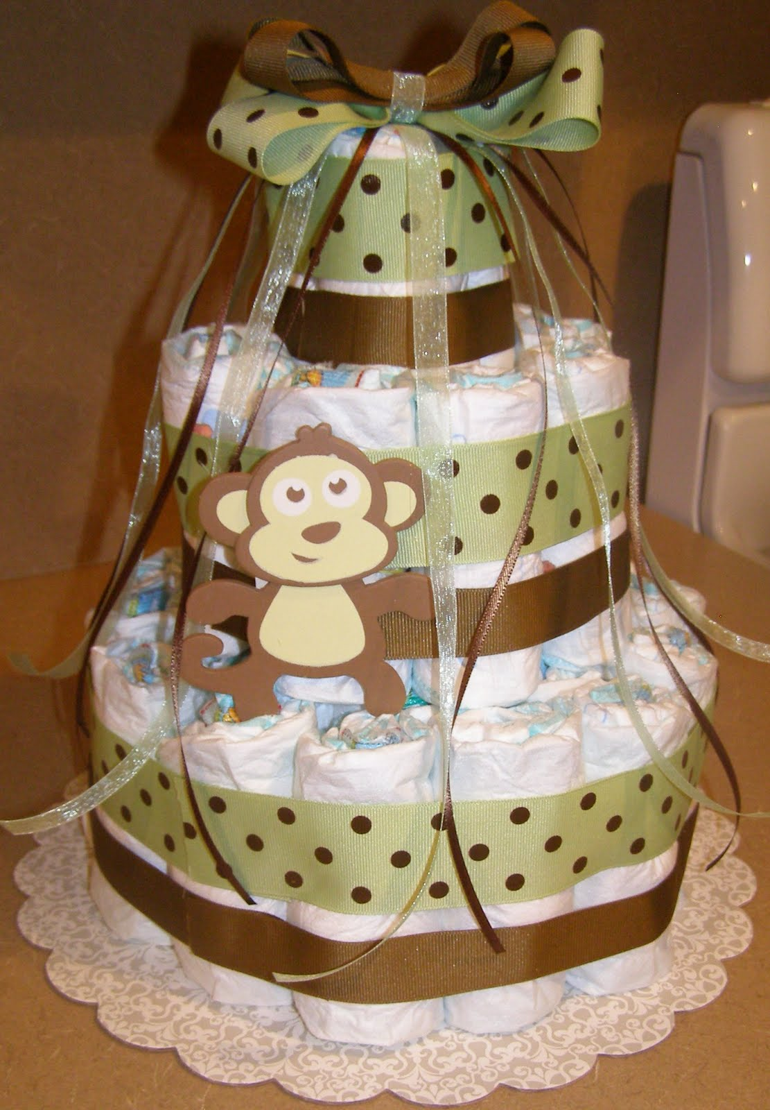 Frugal Yakima Mom Baby Shower Fun Make A Diaper Cake Picture