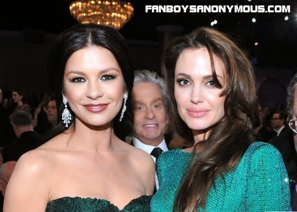 Marvel's new Ant-Man Hank Pym actor Michael Douglas photobombs wife Catherine Zeta Jones Douglas and Angeline Jolie