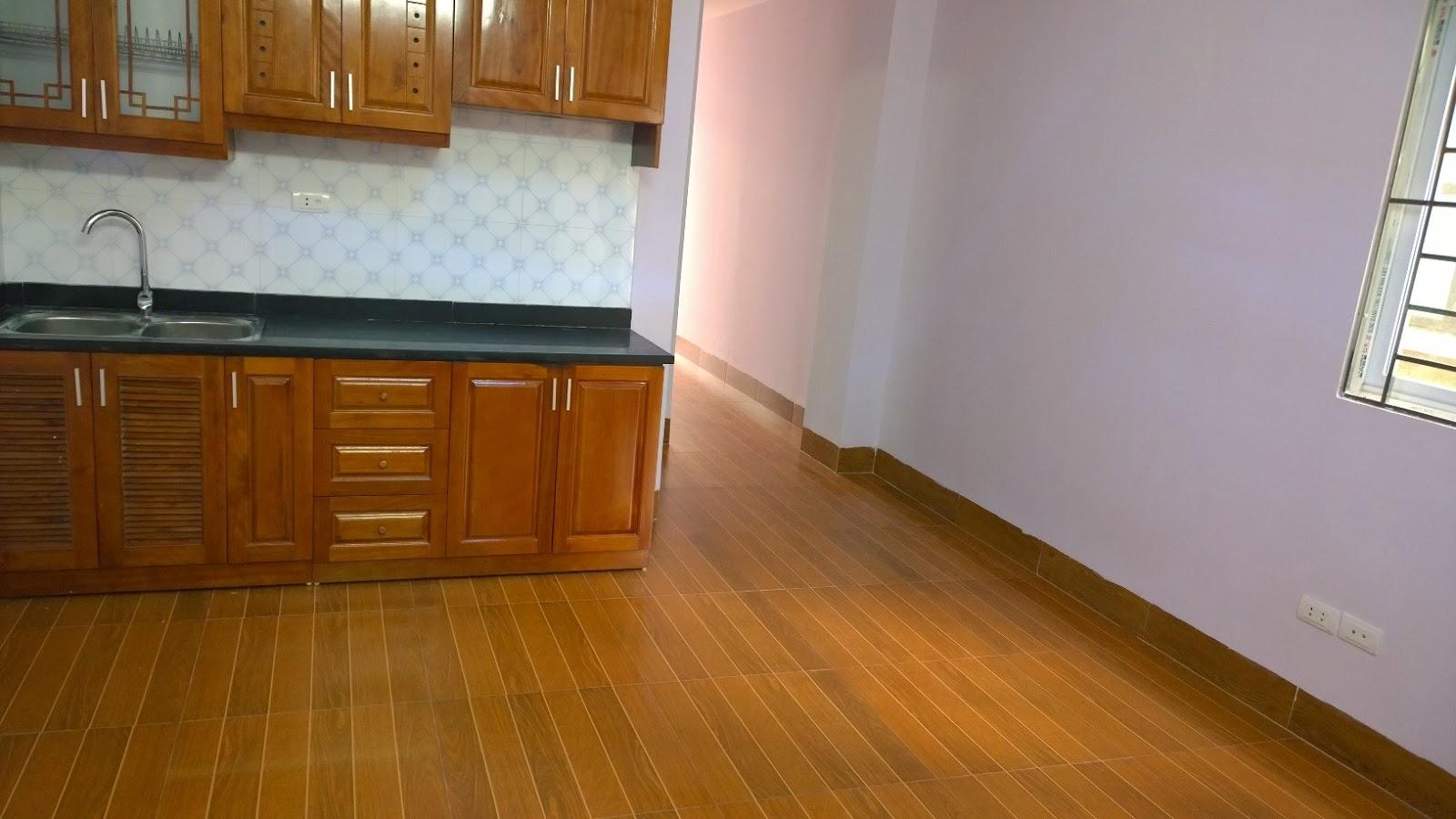 Tủ bếp và bệ bếp của chung cư mini Trung Văn