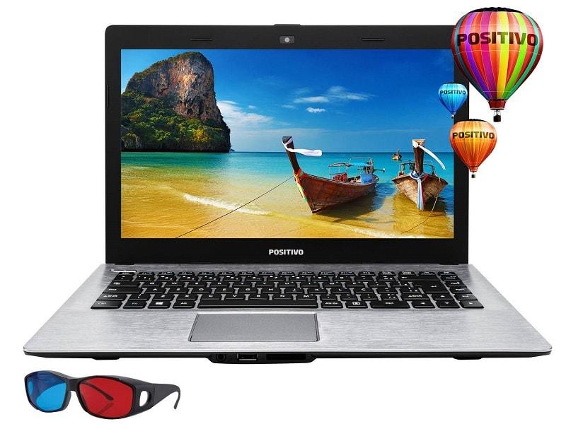 Notebook Positivo Intel Celeron de 14 polegadas LCD 3D