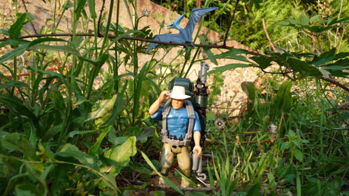 Jurassic Park 1993 Alan Grant W Sac à dos comme est