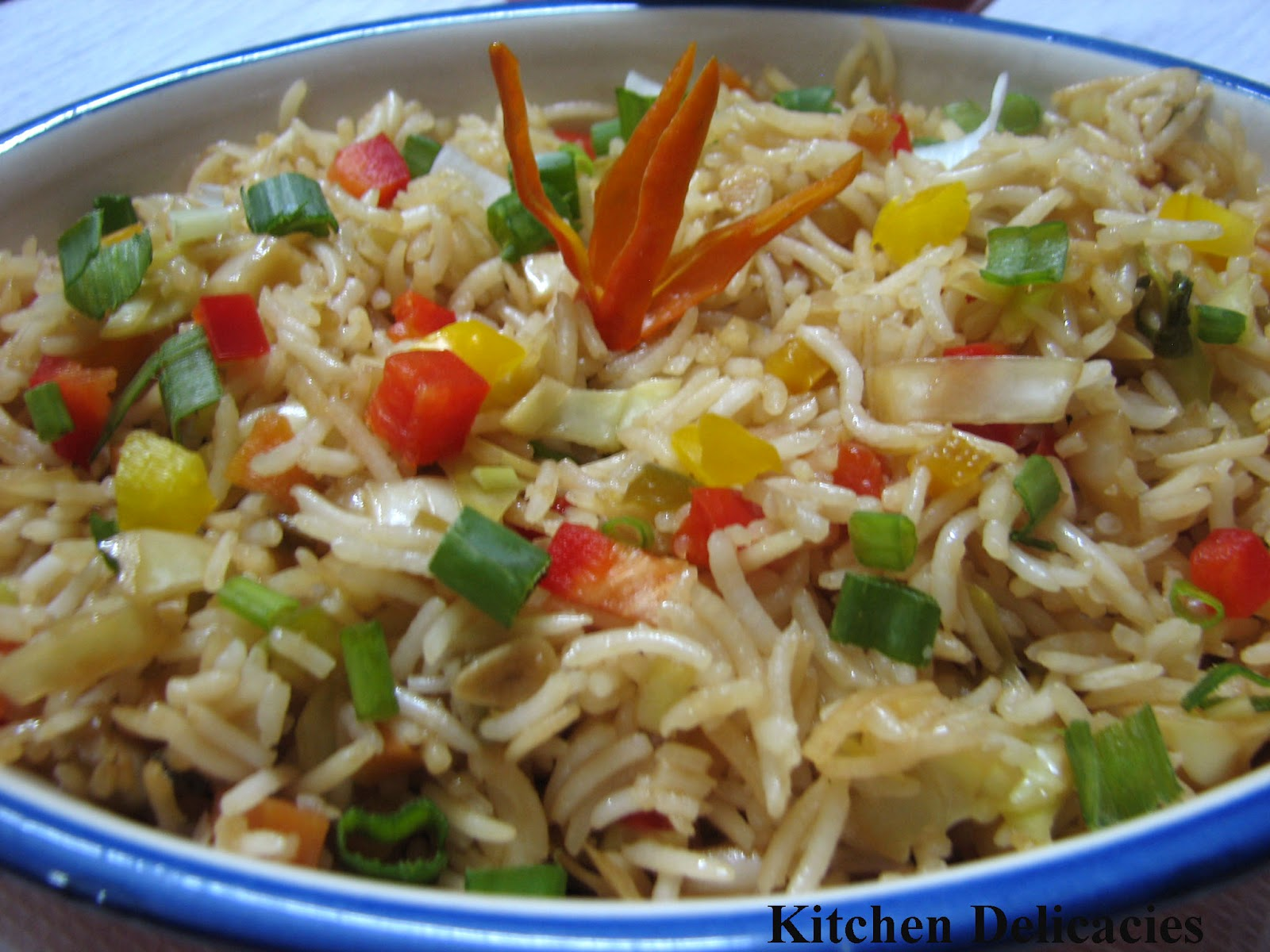 Vegetable Fried Rice | Kitchen Delicacies