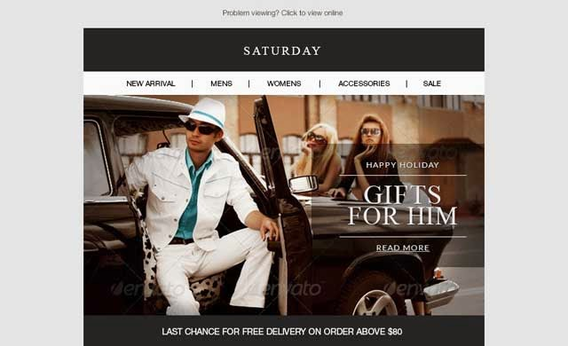 Saturday - E-Commerce Responsive Email Template
