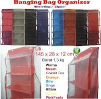 gambar hanging bag organizer,gambar hanging bag organizer zipper,gambar HBOZ