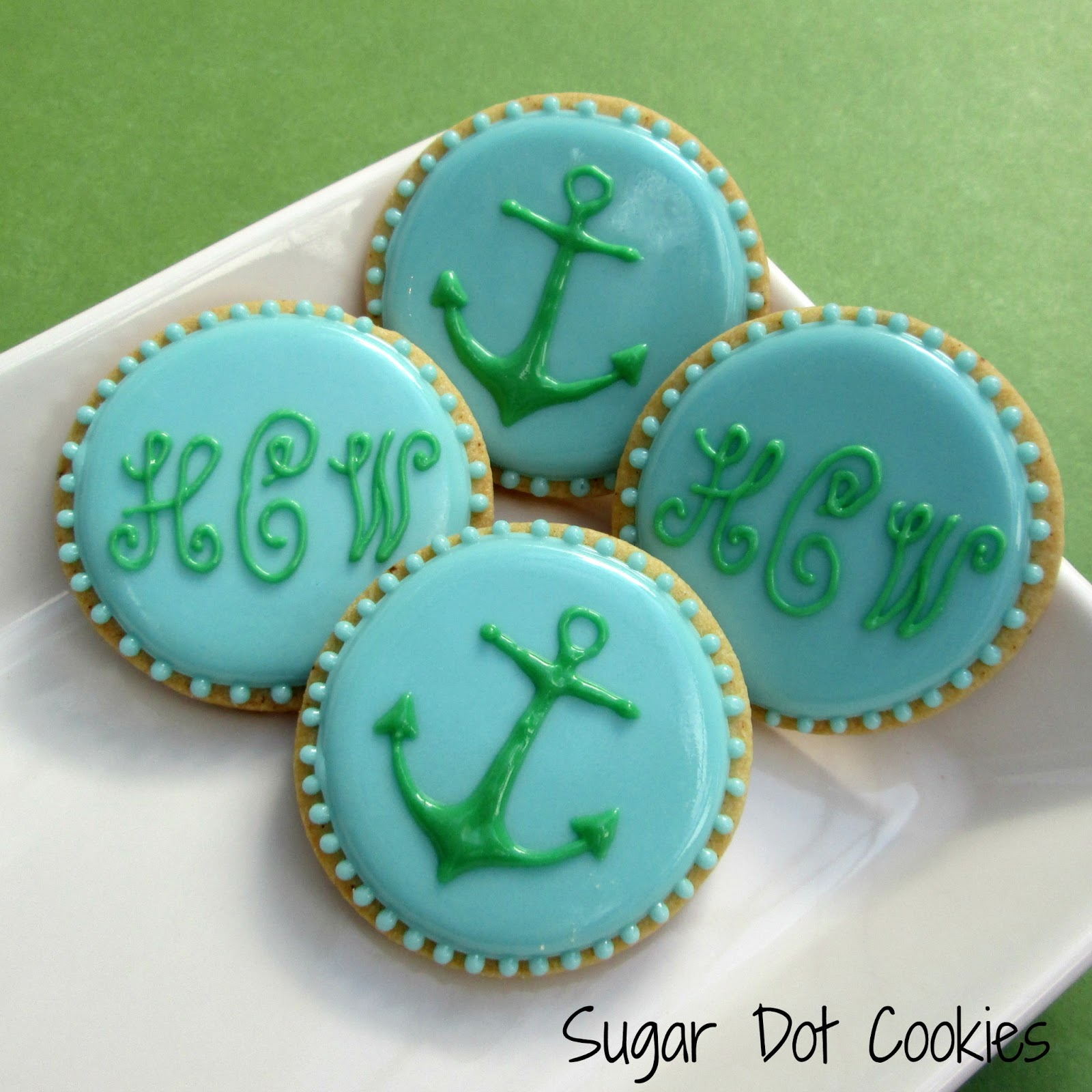 Anchors and monograms. Sweet.