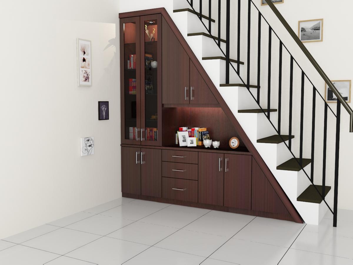 Lemari bawah tangga dian interior design for Siti di interior design