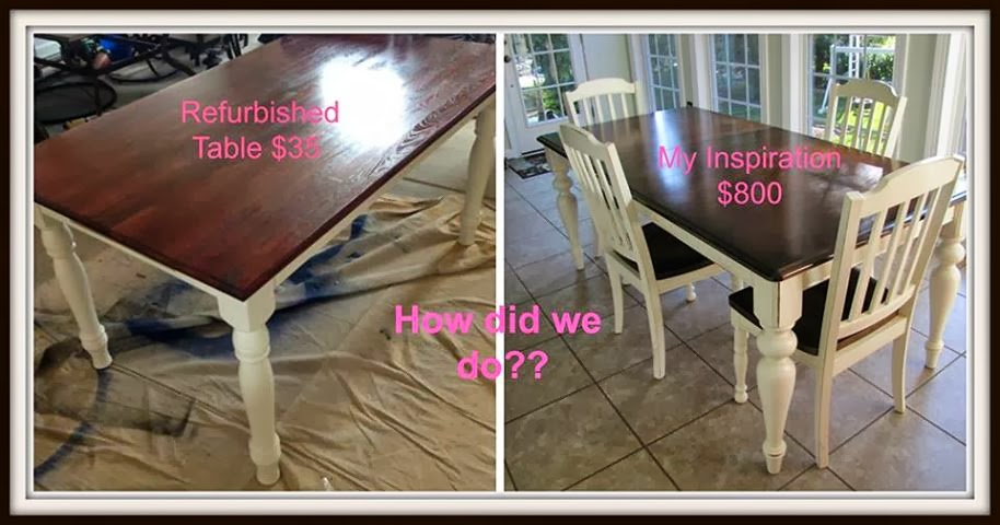 Two it yourself 35 kitchen table makeover - Kitchen table redo ...