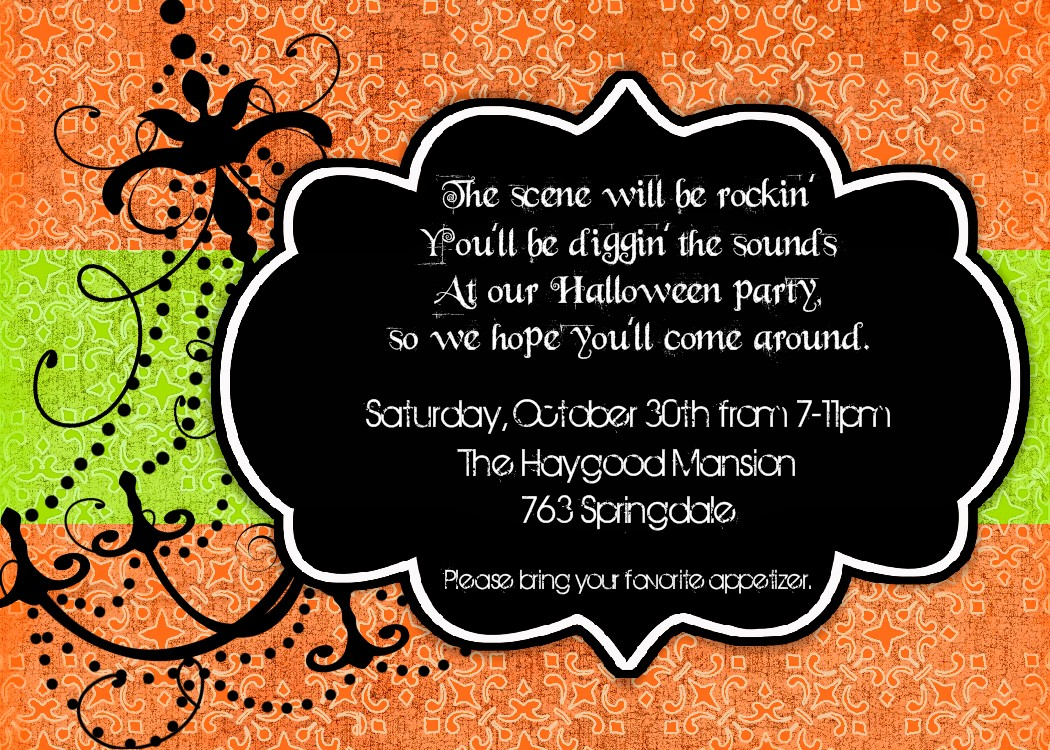 Halloween Party Invitations — Crafthubs