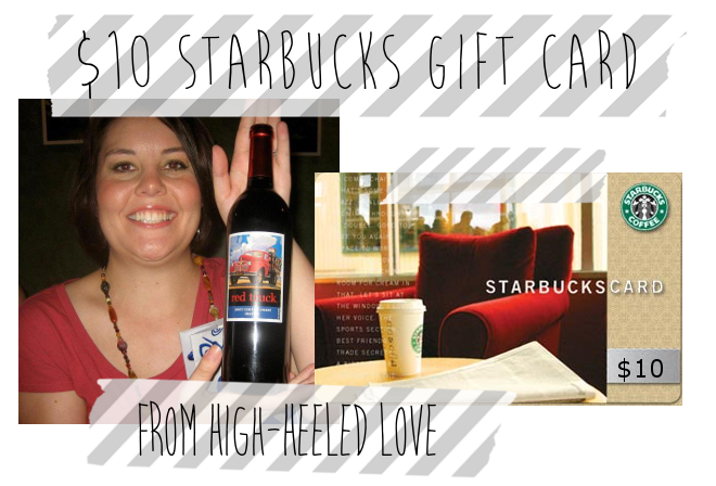 Win a $10 Starbucks Gift Card