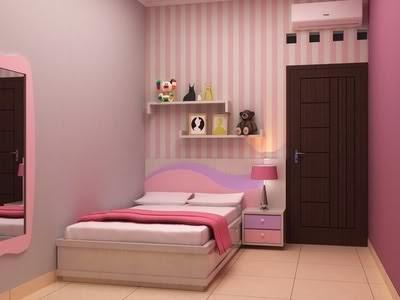 kamar anak perempuan sederhana