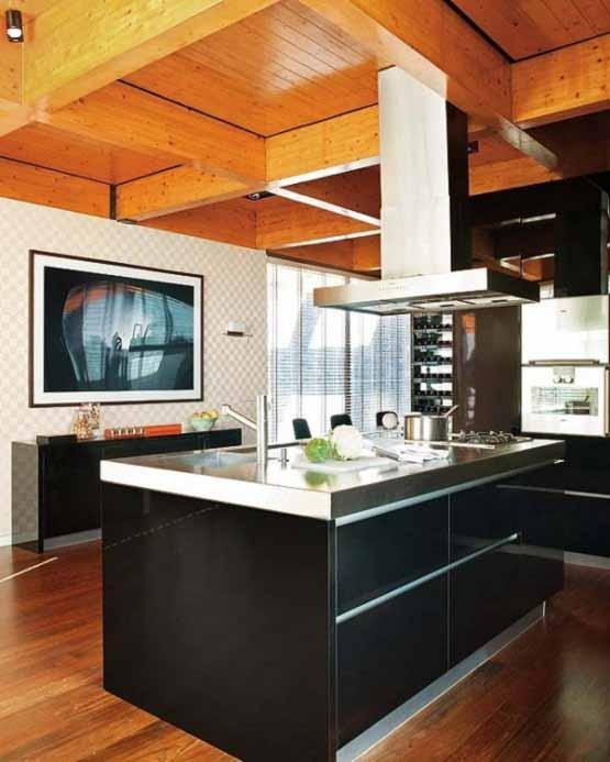 Rumah Modern di Portugal, dapur rumah, rumah minimalis