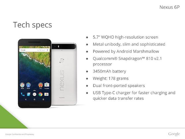 Huawei Google Nexus 6P Smartphone Released Today