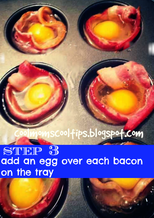 cool moms cool tips poached bacon eggs step 3