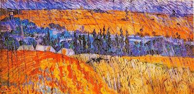 Paisatge a prop d'Auvers sota la pluja (Vincent Van Gogh)