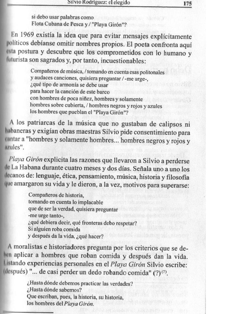 Silvio Rodríguez: Analisis de Playa Giron,