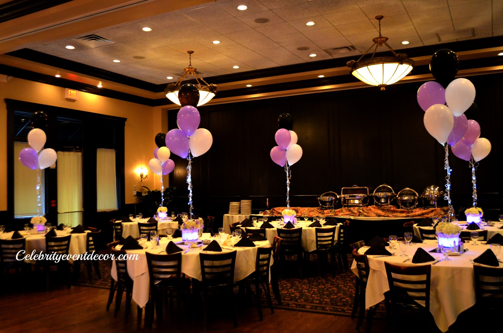 Celebrity event decor banquet hall llc for Balloon decoration ideas for sweet 16