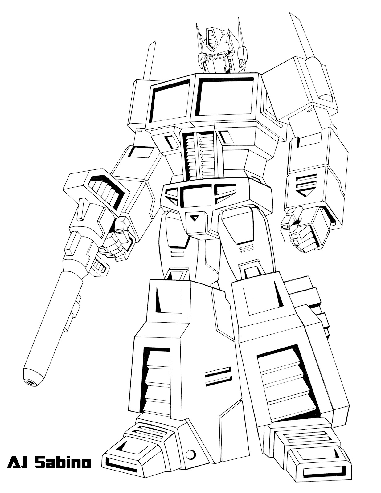 coloring pages optimus prime - photo#33