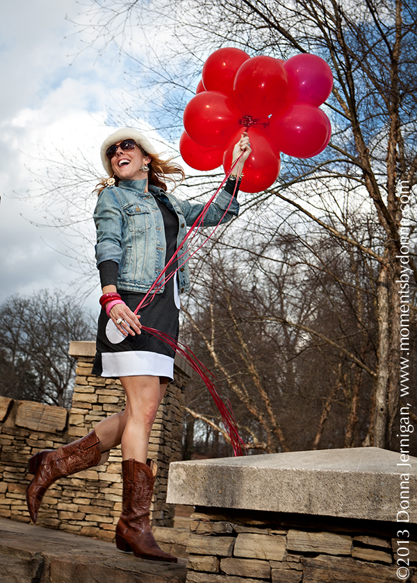 the Queen City Style, Moments by Donna, The Matching Dots, Charlie 1 Horse Cowboy Boots, Gap Denim Jacket, Freedom Park Charlotte, NC