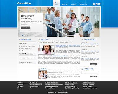 consulting firm webpage design