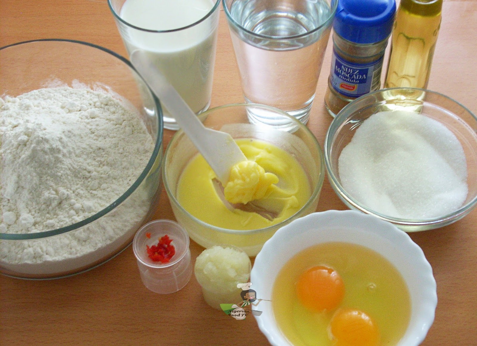 Nigerian Pancake ingredients