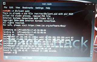 What is the Command to get Android tethering on Linux
