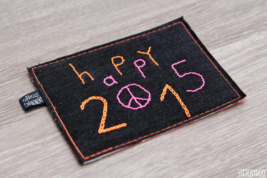 stitchydoo: Stoffkartentausch | Erhaltene Karten im Dezember - Happy 2015