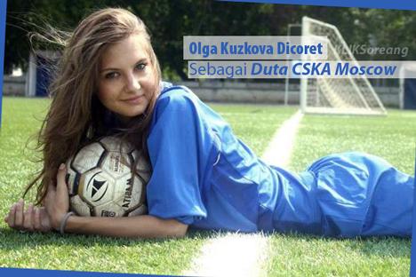 Olga Kuzkova Dicoret Sebagai Duta CSKA Moscow