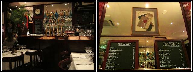 Cafe brasserie bistro Le Bouledogue Paris 3eme déco bar en cuivre tireuse à biere, brasserie rue rambuteau Paris